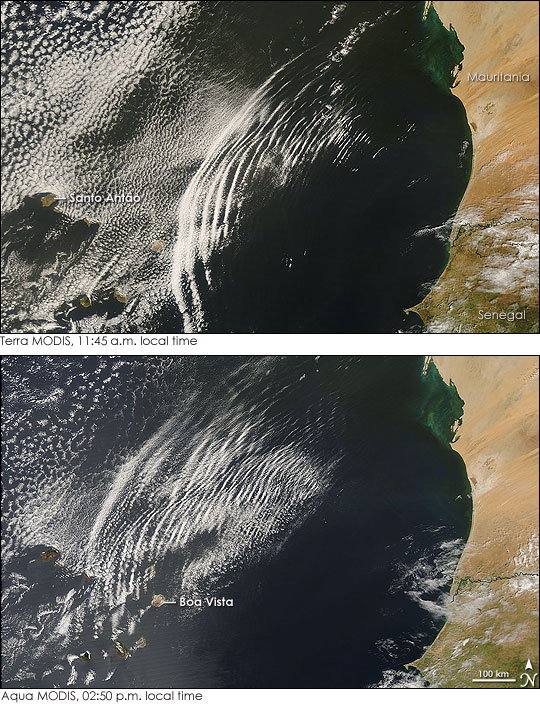 Wave Clouds off West Africa