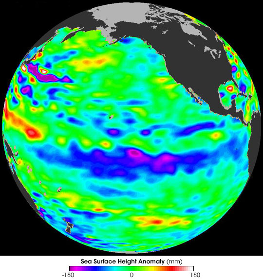 La Nina Strengthens in Autumn 2007