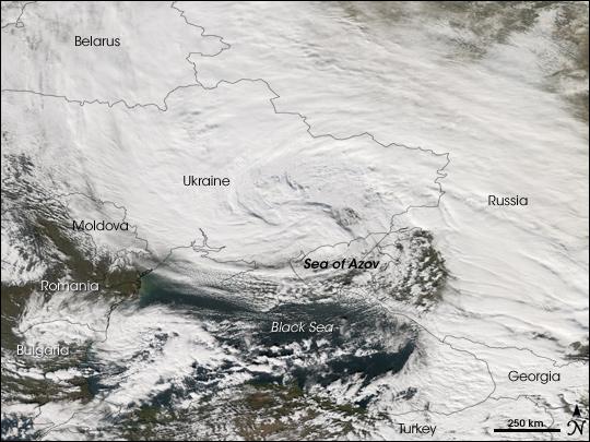 Severe Storm in the Sea of Azov