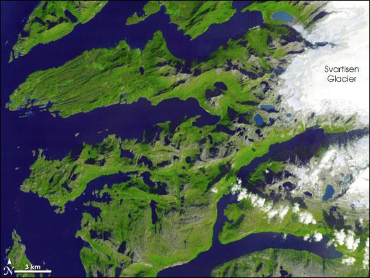 SaltfjelletSvartisen National Park Norway Image Of The Day - Norway vegetation map
