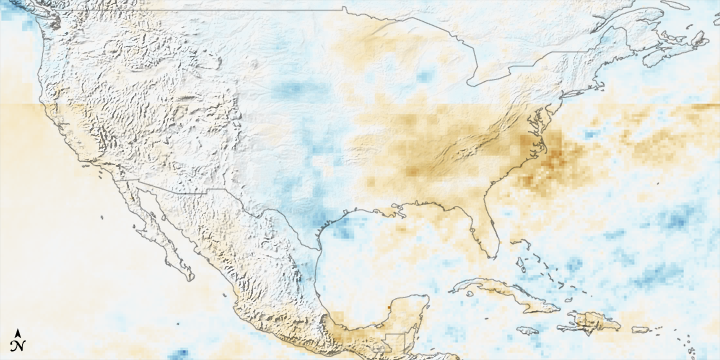 2007 Rainfall Patterns in United States