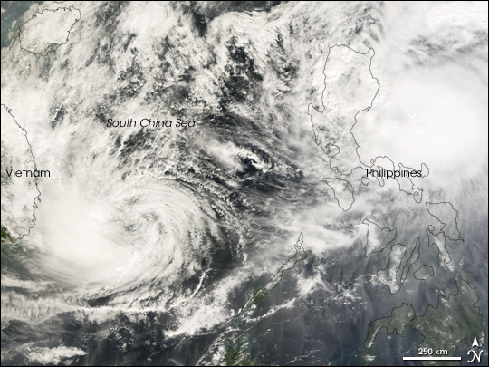 Double Cyclones Strike Philippines