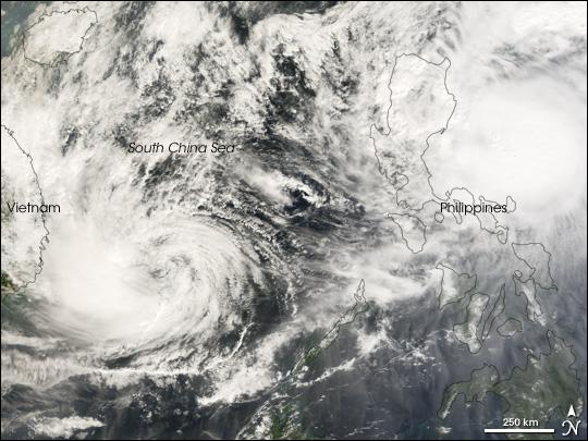 Double Cyclones Strike Philippines