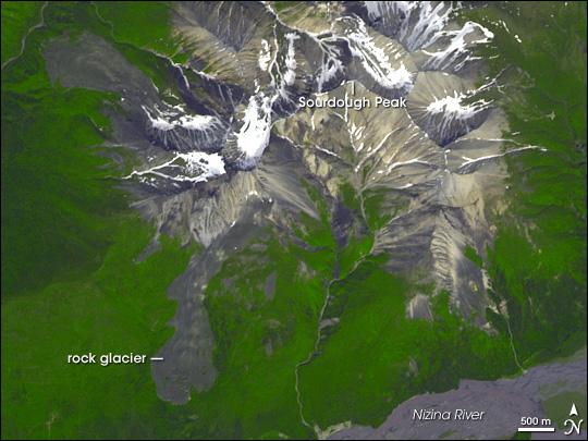 Rock Glacier on Sourdough Peak, Alaska