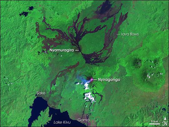 Nyamuragira and Nyiragongo