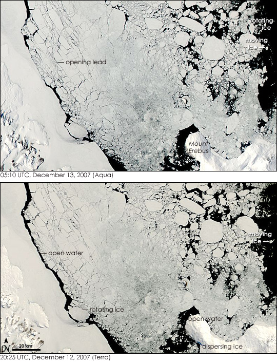 Ross Sea Ice on the Move