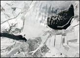 Breaks in Ice on the Volga River
