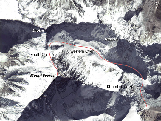 Edmund Hillary's Everest Route