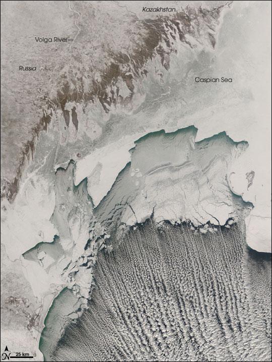Cloud Streets Across Caspian Sea