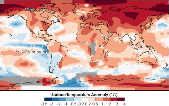 Global Temperature Anomalies: 2007
