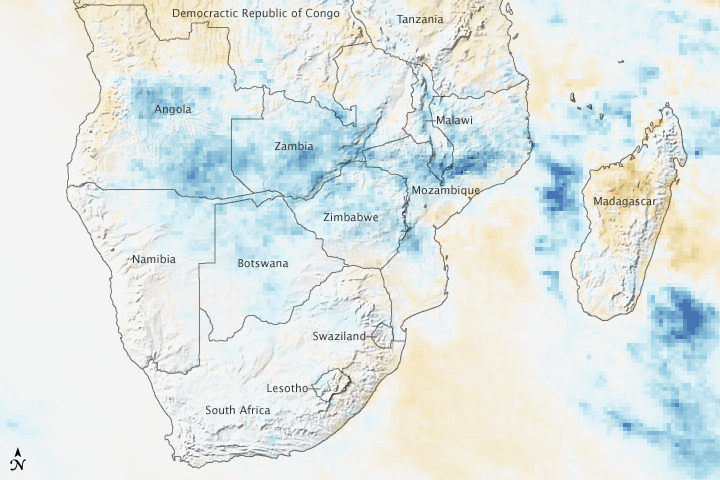 Unusually Intense Rain Floods Southern Africa