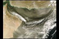 Dust over Gulf of Oman, Arabian Sea