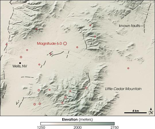 Magnitude 6.0 Earthquake Near Wells, Nevada