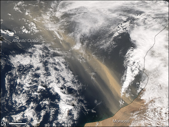 Dust Storm off Morocco