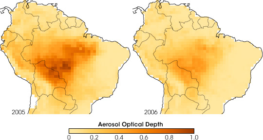 Smoke Over the Amazon in 2005 and 2006