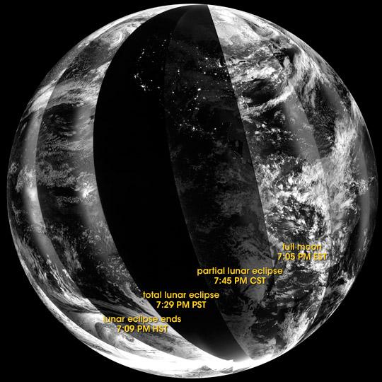 Lunar Eclipse from Orbit