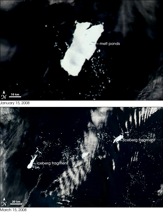Disintegration of Iceberg A53a
