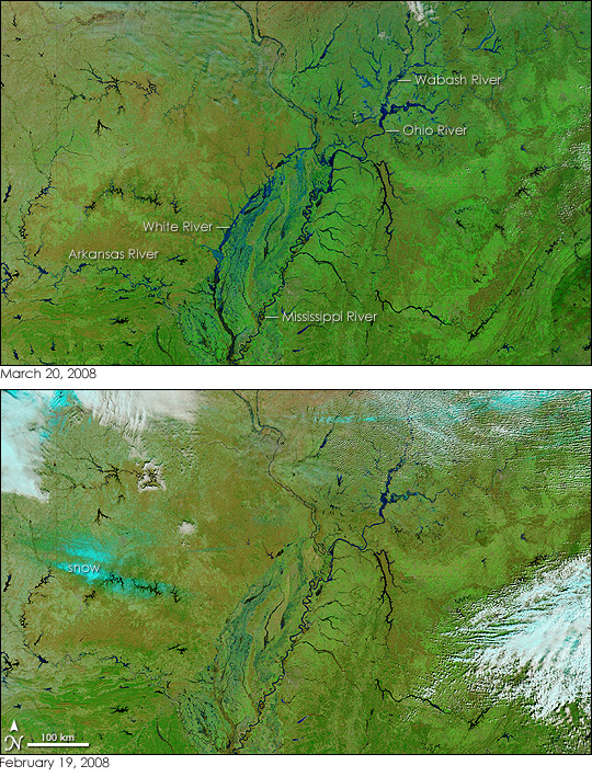 Floods in the US Midwest