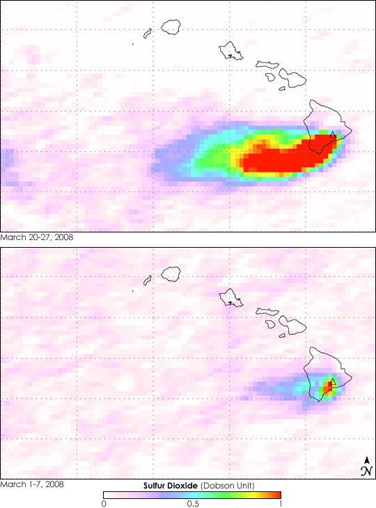 Sulfur Dioxide Plume from Kilauea