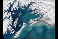 Swirling Sediment in Gulf of Alaska