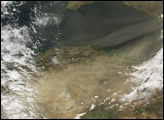 Dust over the Mediterranean and Turkey