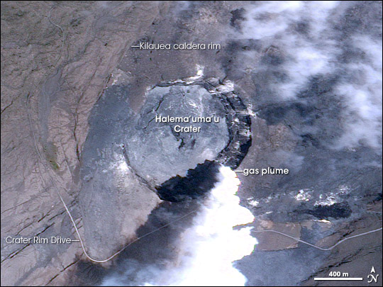 Halema'uma'u Crater Gas Plume