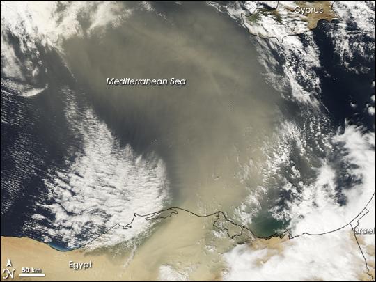 Dust Plume over the Eastern Mediterranean