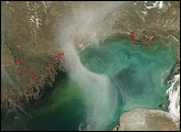 Plume over the Caspian Sea