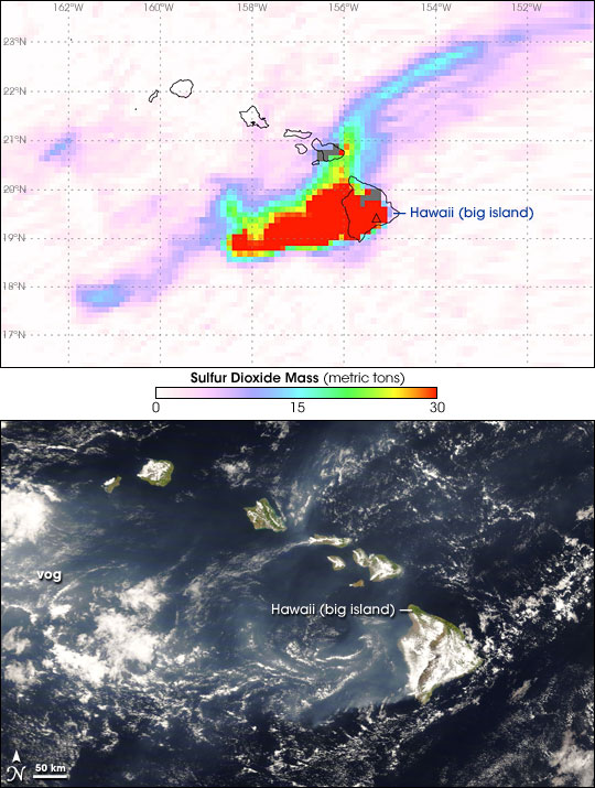 Sulfur Dioxide and Vog from Kilauea