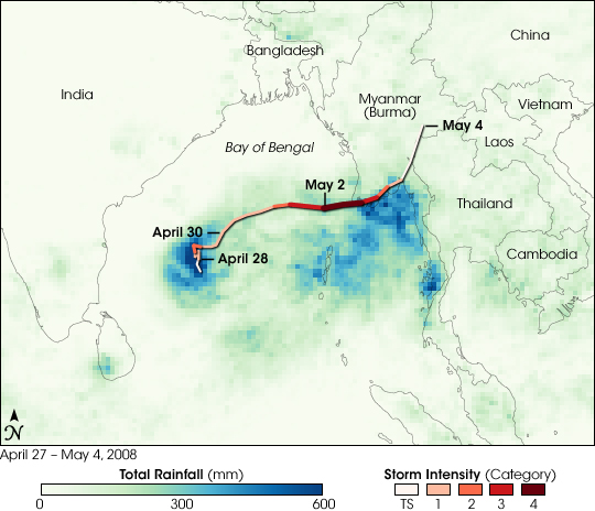 Heavy Rain from Cyclone Nargis