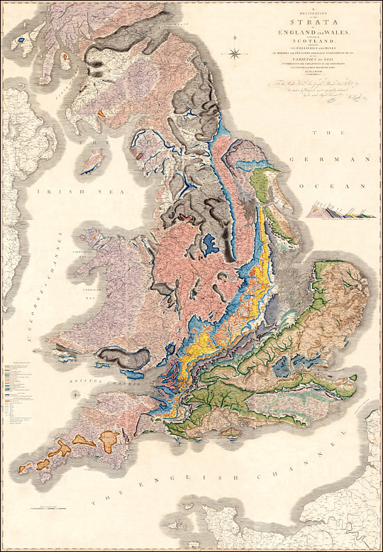 William Smith's Geological Map of England