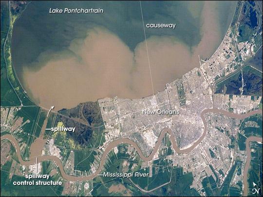 Lake Pontchartrain and the Bonnet Carre Spillway, Louisiana