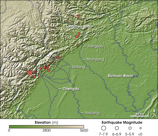 Earthquake Near Chengdu, China