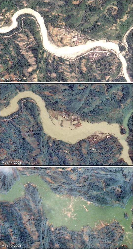 Lake Formation in the Aftermath of Magnitude 7.9 Earthquake