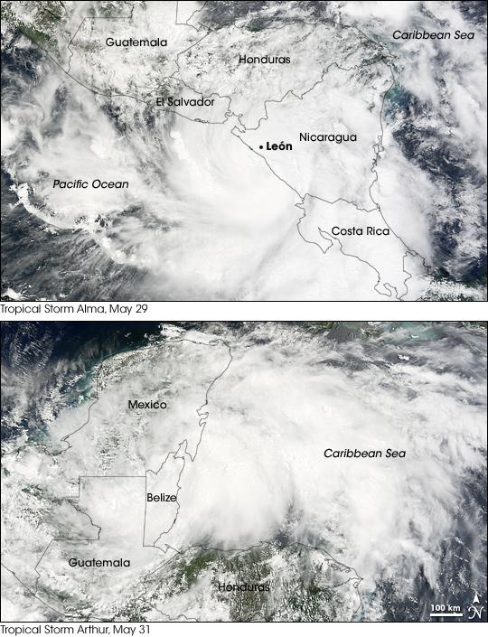 2008 Hurricane Seasons Begin in Eastern Pacific and Atlantic