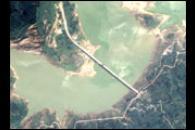 Quake Lowers Zipingku Reservoir