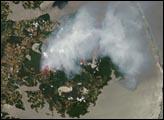 Fires in Virginia, North Carolina