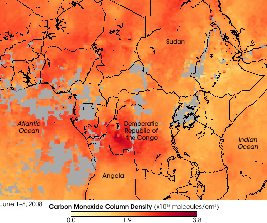 Carbon Monoxide from Central African Fires - related image preview