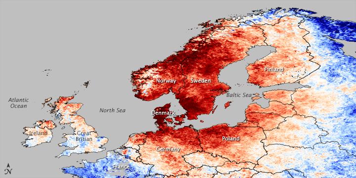 Heat Wave in Northern Europe