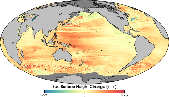 Regional Patterns of Sea Level Change 1993-2007