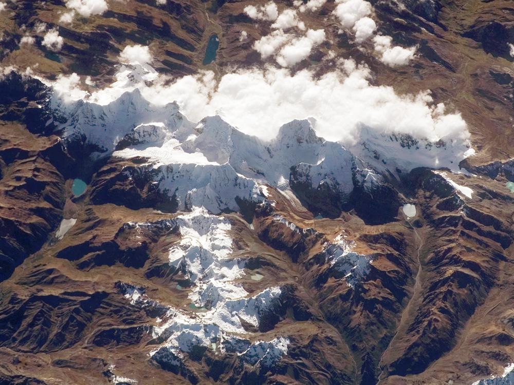 die Cordillera Huayhuash von oben