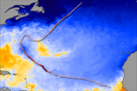 Sea Surface Temperature and Hurricane Bertha
