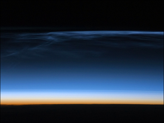 Polar Mesospheric Clouds Over Central Asia