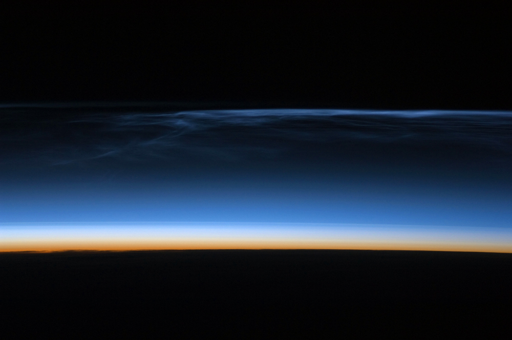 polar mesospheric clouds over central asia image of the day
