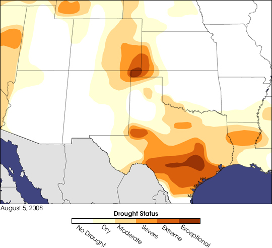 Exceptional Drought in the High Plains and Texas