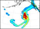 Sulfur Dioxide Cloud from Aleutians' Kasatochi Volcano