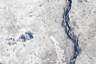 Agricultural Fields Under Snow, China