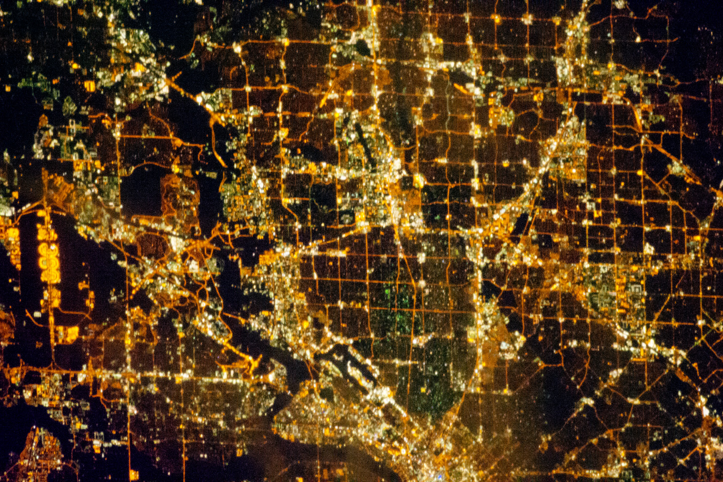 Dallas Metropolitan Area At Night Image Of The Day