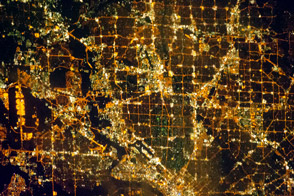 Dallas Metropolitan Area at Night