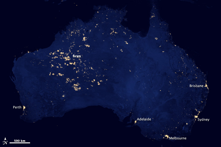 City Lights Of Australia Or Not Image Of The Day - World satellite map lights